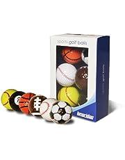 Longridge Grappige golfballen Sport, verpakking van 6 stuks
