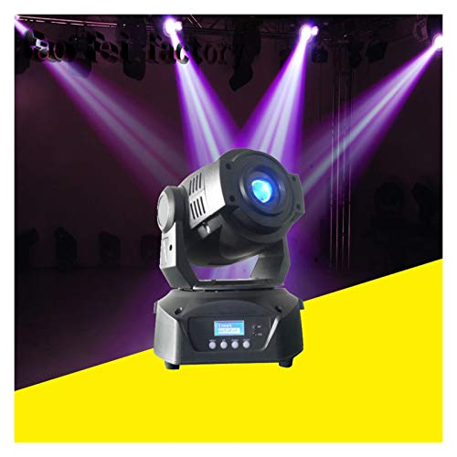 Qsdxlsd Stage light Hot 90W LED Moving Head Spot Stage Lighting 16 DMX Channel Hi-Quality 90W Prism Led Moving Light (Color : Unit price for 2pcs)