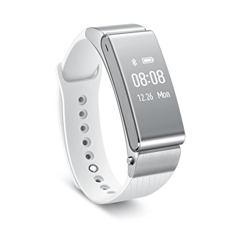 HUAWEI Talkband B2 Compatibile con Android 4.0+ e iOS 7.0, Bianco