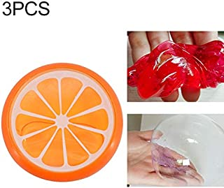 Toys&Hobbies 3Pcs/Set Children's Puzzle Fruit Crystal Mud Transparent Fruit Clay(Pitaya) (Color : Orange)