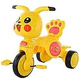 NUBAO Triciclo Evolutivo Toral Triciclos de Triciclo de niños de Dibujos Animados, 1-3-3-5 años de Edad del bebé Scooter Ligero con Luces de música Chica (Color : Yellow)