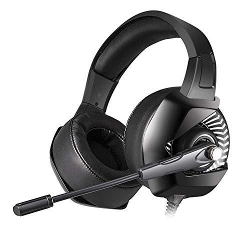 DBSCD Casque de Jeu Stéréo sur l'oreille avec Isolation du Bruit Stéréo Écouteurs pour PC, Xbox One, PS4, commutateur Nnintedo (Couleur: Blanc)