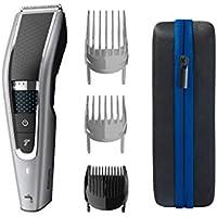 Philips Serie 5000 HC5650/15 - Cortapelos con cuchillas acero inoxidable, 28 ajustes de longitud, 90 min de uso sin cable, incluye 3 peines-guía y funda de viaje