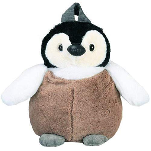 zdfbhkm Mochila de Felpa de pingüino Lindo para niñas, Bolso de Hombro de Felpa de pingüino de Color Caqui, cumpleaños para niñas, Mochila pequeña y Suave A