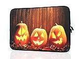 TAIDY 13.3-Inch to 14-Inch Neoprene Laptop Sleeve Case for 13 13.3 13.9 14 14.1' Inch MacBook Air Pro/Notebook (13.3-14 Inch,Pumpkin Lantern)
