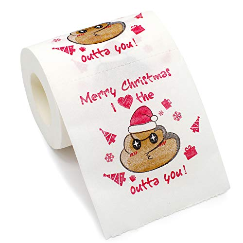 Bravo Sport Merry Christmas Toilet Paper, Highly Collectible Novelty Toilet Paper Funny Gag Gift for...