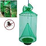 Trampa para pájaros no tóxica Plegable Que cuelga Insectos Netos Reutilizables de Drosophila Trampa de plagas Trampa de Trampa/Avispa para el Exterior Avispa asesina Que repele con Relleno atrayente
