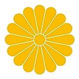 imoninn 家紋ステッカー【十六菊】006 カッティングタイプ <90mm> 黄色