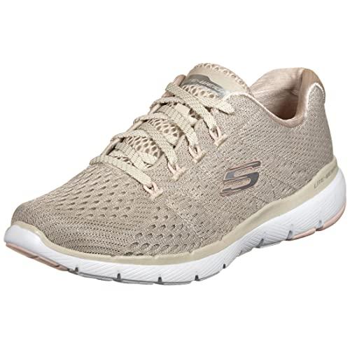 Skechers Sport Womens Flex Appeal 3.0 Satellites Sneakers Women Beige, Schuhgröße:38 EU