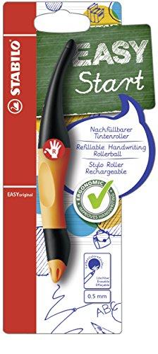 Ergonomischer Tintenroller für Rechtshänder - STABILO EASYoriginal in orange/anthrazit - Einzelstift - Schreibfarbe blau (löschbar) - inklusive Patrone