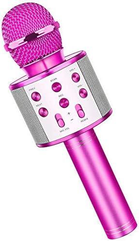 Fun Boys Toys Age 3 12 Wireless Bluetooth Karaoke Microphone for Kids Portable Handheld Mic product image