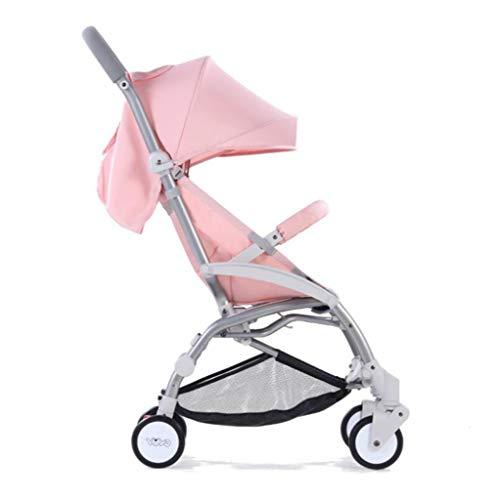 Baby kinderwagen - Ultra-lichte draagbare opvouwbare kan gaan zitten en liggen Baby Carriage vierwielige BB kar voor zuigelingen van 0 tot 3 jaar oud roze