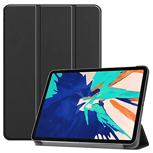 RZL PAD & TAB cases Tablet Case for iPad Pro 12.9 4th Generation 2020 Release Auto Sleep/Wake for iPad 12.9 2020 Folding Stand Shell with pen+film (Color : For ipad pro 12.9BK)