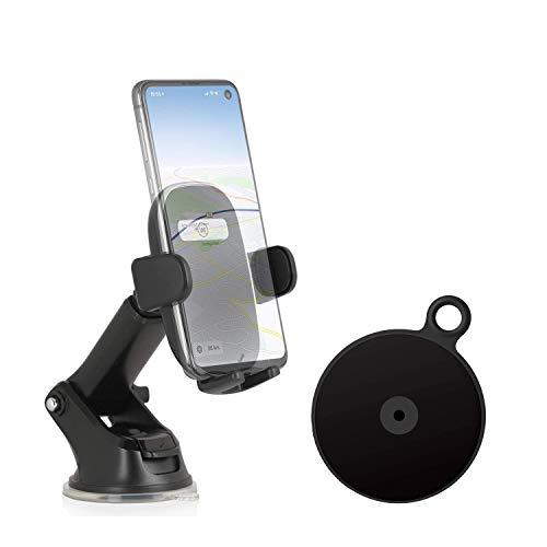 Wicked Chili Auto Handyhalterung für Frontscheibe mit Armaturenbrett-Befestigungsplatte kompatibel mit Samsung Galaxy S20 Ultra S10 Lite S9 Plus Note10+ A90 A71 A60 A50 A51 A41 A10 M40 M30s