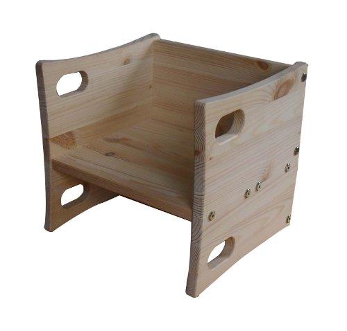 """Funktioneller mitwachsender Wendehocker für Baby + Kleinkind \""""Anna\"""" Massivholz geölt, aus nachhaltiger Waldwirtschaft, in Deutschland gefertigt"""