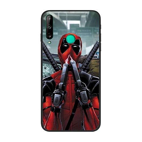 Black Case for Huawei P40 Lite E, MV-Hero Deadpool-Spider 7 TPU Matte Silikon Coque Slim Fit Anti-Scratch Print Flexible Gel