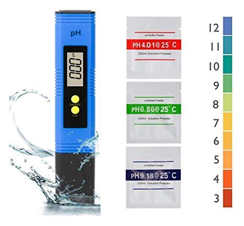 Nynel PH - Medidor digital de pH profesional, función de calibración automática...