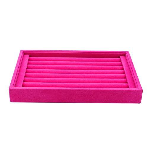 Akozon sieraden opbergdoos, ring sieraad display opbergdoos tray case organizer voor dasspelden oorbellen