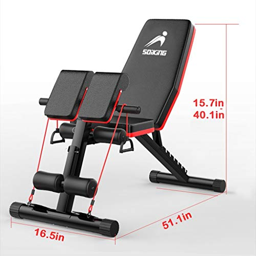Weight Bench, Adjustable Strength Training Bench for Full Body Workout Incline Decline Exercise Workout Bench for Home Gym- 2021 Version