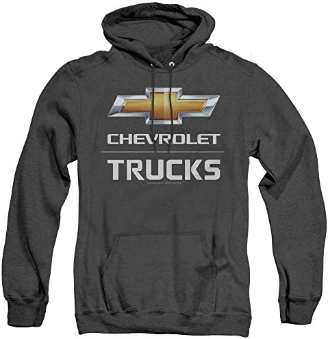 Chevrolet Unisex Adult Pull Over Heather Hoodie Large Black product image
