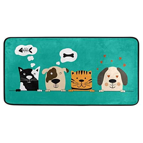Cartoon Hund Küche Lange Matte Bereich Teppich Anti-Rutsch Anti Müdigkeit Komfort Bodenmatte Wasserdicht Perfekter Teppich für Küche 99,1 x 50,8 cm 2030401