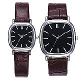 UKCOCO & Ihn Uhren Paar Quarz Handgelenk Uhren Leder Band Analog Uhren für Liebhaber Set von 2