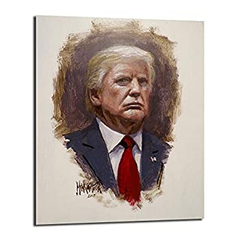 FireDeer Donald Trump Portrait Canvas Prints Picture Modular Paintings For Living Room Poster On The Wall Home Decor  With Frame,16x20 inch