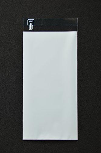 印刷透明封筒 長3 【500枚】 OPP 50μ(0.05mm) 表:ブルーベタ 切手/筆記可 静電気防止処理テープ付き 折線付き 横120×縦235+フタ30mm印刷可