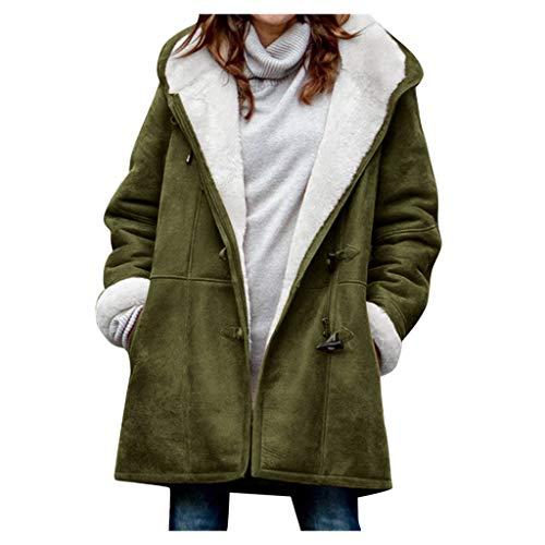Read About Women's Hooded Winter Thicken Jacket Coat Warm Fur Lined Hoodie Parkas Overcoat Fleece Ou...