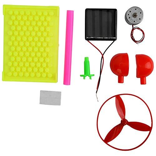 Geassembleerd model speelgoed, DIY-handleiding Zonne-energie Ventilator gemonteerd speelgoed Kinderen Educatieve experimentele kit Elektronische speelgoedset