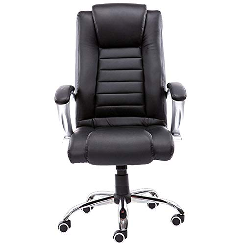 Office Chair Executive Office Chair Durable and Stable Height Adjustable (Color : Black)