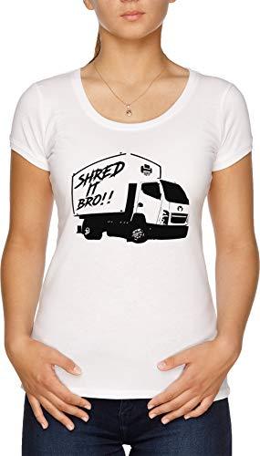 Shred It Bro!! - Meme Camiseta Mujer Blanco