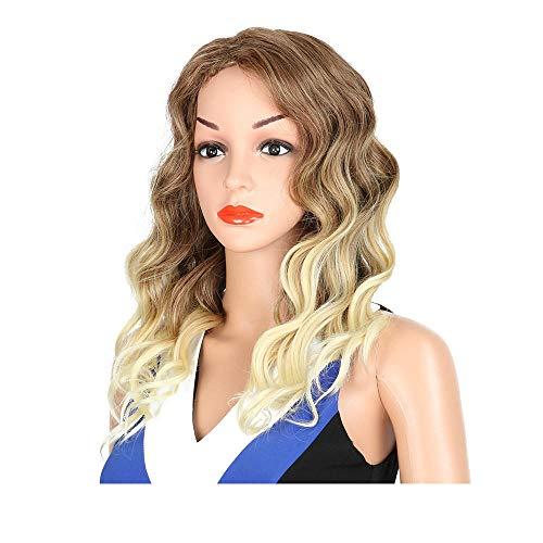 Perruques Perruques Et Postiches Pour Adultes Simulation Du Cuir Chevelu Perruque Grosse Vague Couleur Mixte Virole De Cheveux Virole