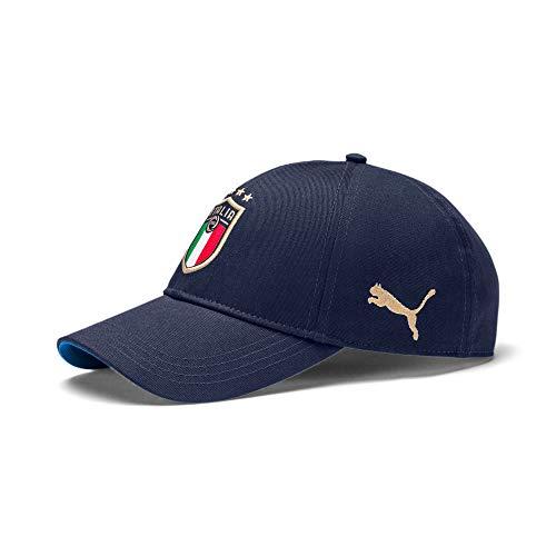 PUMA FIGC cap, Cappello Uomo, Peacoat/Team Power Blue Team Gold, Taglia Unica
