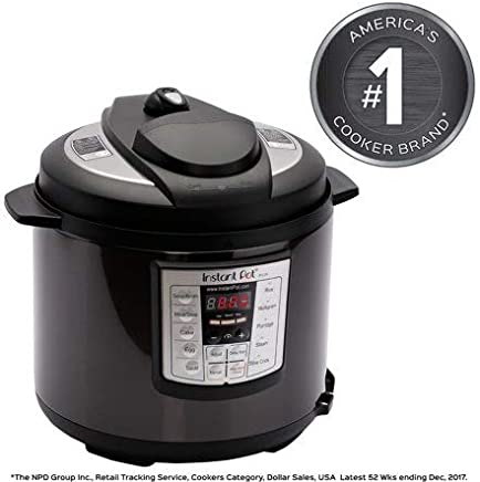 Instant Pot LUX60 Black Stainless Steel 6 Qt 6-in-1...