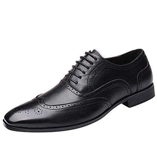 WMZQW Zapatillas de Cuero Trajes Negocio Patchwork Casual Moderno Calzado Zapatos con...
