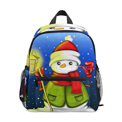 CPYang Kinder Rucksack Schneemann Laterne Muster Schultasche Kindergarten Kleinkind Vorschulrucksack für Jungen Mädchen Kinder