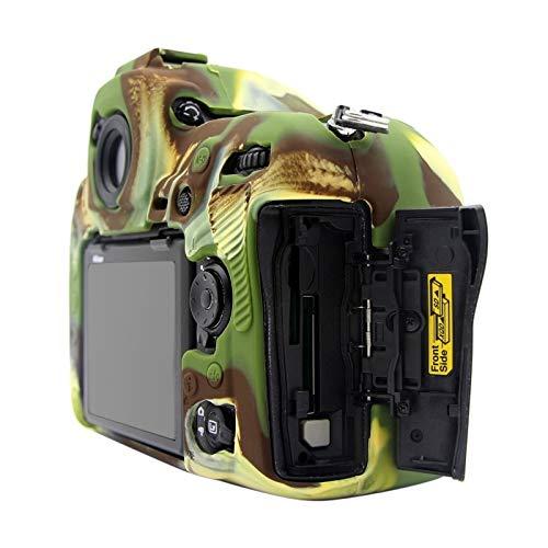 G-rf Weiche Silikon-Schutz Kamera-Kasten-Abdeckungs-Beutel for Nikon D850 (Camouflage) (Color : Red)