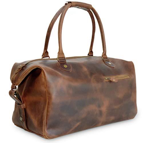 Leder Weekender Tasche für Herren - Braun Handgepäcksgröße - Linwood Buckle & Seam