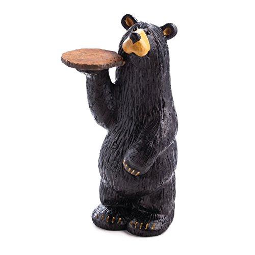 DEMDACO Waiter Bear Grand Bear 24 x 12 Hand-cast Resin Figurine Sculpture