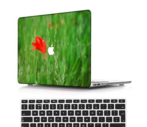 NEWCENT MacBook Pro 15' Funda,Plástico Ultra Delgado Ligero Cáscara Cubierta EU Teclado Cubierta para MacBook Pro 15 Pulgadas con Touch Bar Touch ID(Modelo:A1707/A1990),Serie Rosa A 0202