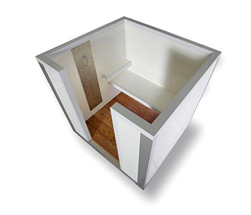 NEOVIA COOLBOX Nebelkabine für hygienische Saunaerfrischung im Zebra-Look (Moderne Tauchbecken-Alternative)