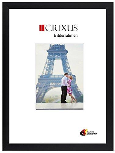 CRIXUS Crixus35 Bilderrahmen für 100 cm x 140 cm Bilder, Farbe: Schwarz Matt, Holzrahmen MDF mit entspiegeltem Acrylglas, Rahmen Breite: 35mm, Aussenmaß: 105,8 x 145,8 cm
