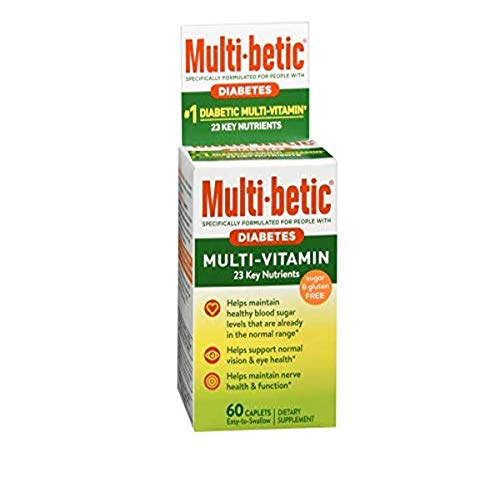 Multi-Betic Diabetes Multi Vitamin and Mineral 24 Hour Support Formula, 60 Count (Pack of 3)
