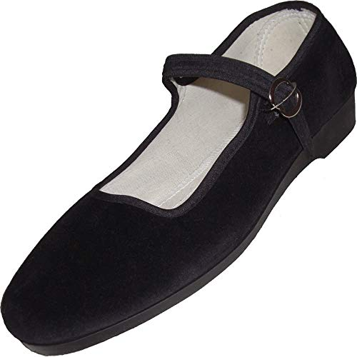Samt Ballerina CHINA FLAT black 41