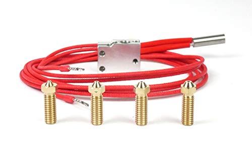 Genuine E3D Volcano Eruption Pack upgrade voor V6 HotEnd, 0,6 mm, 0,8 mm, 1 mm, 1,2 mm nozzles 3D-printer, 24V, 1