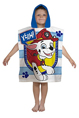 Paw Patrol kinderponcho handdoek, blauw, 115 x 50 cm