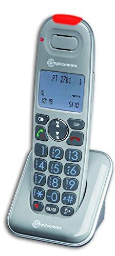 Amplicomms PowerTel 2701 Schnurloses Seniorentelefon LC-Bildschirm Grau