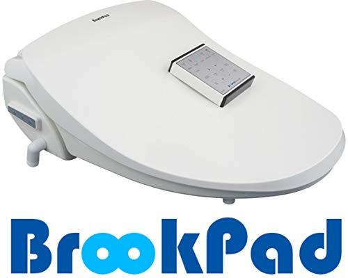 BrookPad SplashLet 1500RBS Intelligent Dusch-WC Bidet Aufsatz mit Fernbedienung, Elektronischer, Selbstreinigende Edelstahldüse, Nachtlicht, Turbo, 50cm