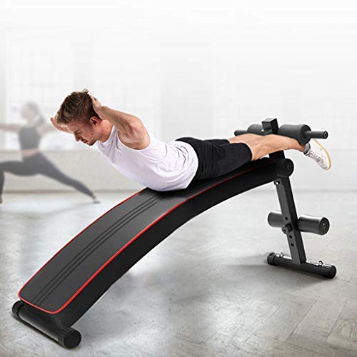 Home Gym Foldable Decline Sit up Bench, Adjustable Weight Bench Workout Abs Benchs for Bench Press, Sit-ups, Leg Lifts, Dumbbell Curls, Full Body Fitness